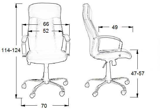 Dimensiuni scaun de birou ergonomic, ZH-9152 Negru